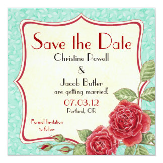 Color de rosa trepador - ahorre la fecha invitación personalizada