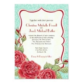 Color de rosa trepador - invitación del boda