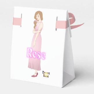 Color de rosa, versión del amanecer, cajas para regalos