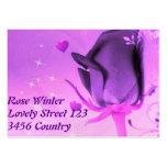 Color de rosa y amor tarjeta personal