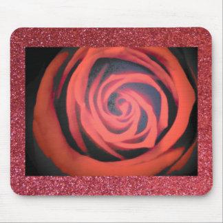 Color de rosa y brillo mouse pads