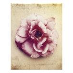 Color de rosa y color de malva y moreno membretes personalizados