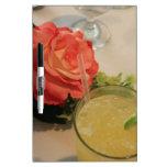 Color de rosa y margarita pizarra