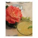 Color de rosa y margarita plantilla de membrete