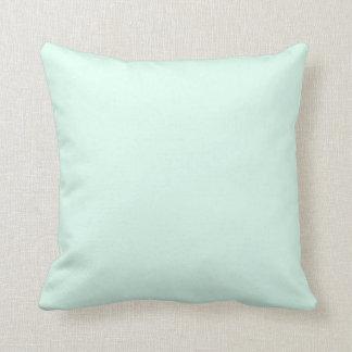 Color de verde menta ligero sólido de encargo almohadas