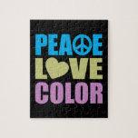 Color del amor de la paz puzzle con fotos