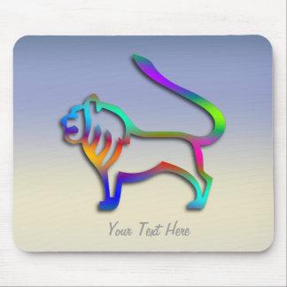 Color del arco iris de la muestra de la estrella d tapetes de raton