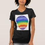 Color del arco iris del huevo de Pascua Camiseta