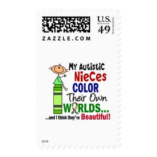 COLOR del autismo SUS PROPIAS sobrinas autísticas