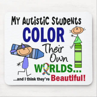 COLOR del autismo SUS PROPIOS estudiantes de los M Tapete De Ratón