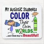 COLOR del autismo SUS PROPIOS estudiantes de los M Tapete De Ratones
