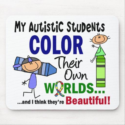 COLOR del autismo SUS PROPIOS estudiantes de los Tapete De Ratón