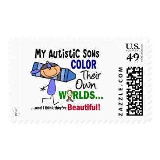 COLOR del autismo SUS PROPIOS hijos de los MUNDOS