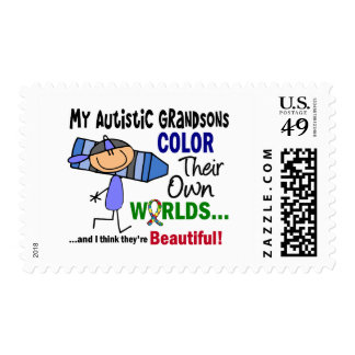 COLOR del autismo SUS PROPIOS nietos de los MUNDOS