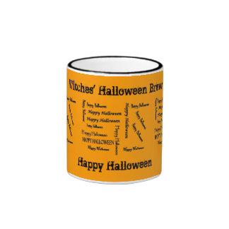 Color del Brew de Halloween de los brujos de las Taza De Dos Colores