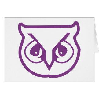 Color del búho de la sigma pi tarjeta de felicitación
