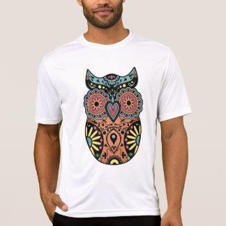 Color del búho del cráneo del azúcar camisas