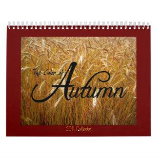 Color del calendario del otoño 2011