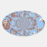 Color del cielo del regalo de Hakuna Matata del Pegatina Ovalada