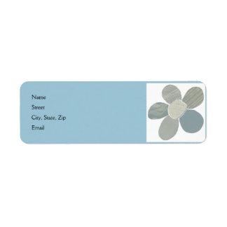 Color del collage DIY de la flor del material de Etiquetas De Remite