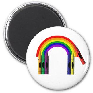 Color del creyón un imán del arco iris