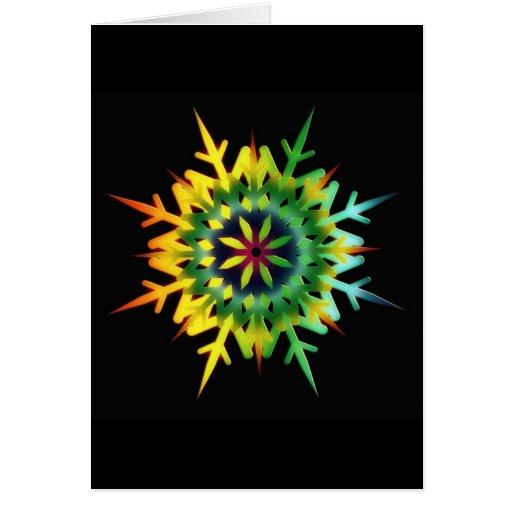 Color del cristal de hielo tarjeta de felicitación