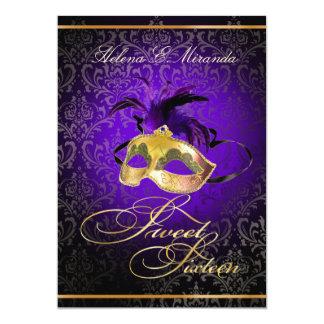 ¡Color del dulce 16 Masquerade/DIY de PixDezines Invitación 12,7 X 17,8 Cm