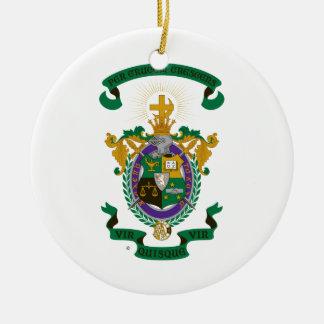 Color del escudo de armas de LCA Adorno Navideño Redondo De Cerámica