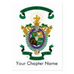 Color del escudo de armas de LCA Tarjetas Postales