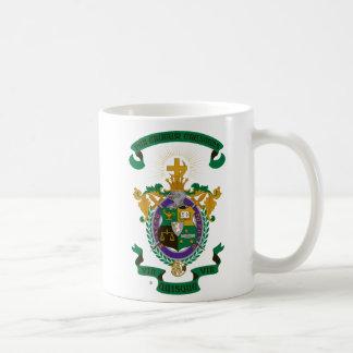 Color del escudo de armas de LCA Taza Básica Blanca