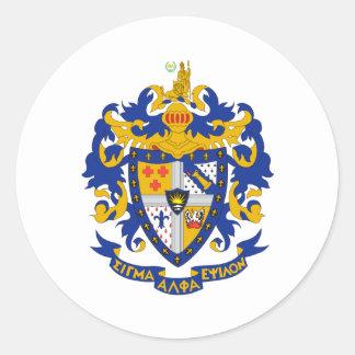 Color del escudo de armas del SAE Pegatinas Redondas
