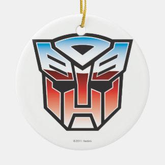 Color del escudo de G1 Autobot Adorno Redondo De Cerámica