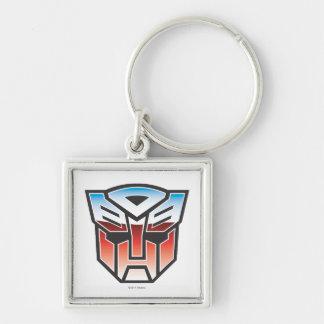 Color del escudo de G1 Autobot Llavero Cuadrado Plateado