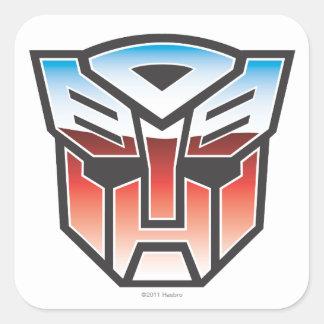 Color del escudo de G1 Autobot Pegatina Cuadradas