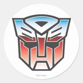 Color del escudo de G1 Autobot Pegatina Redonda