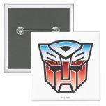 Color del escudo de G1 Autobot Pin Cuadrada 5 Cm