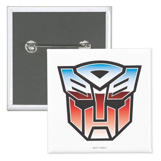 Color del escudo de G1 Autobot Pin Cuadrado