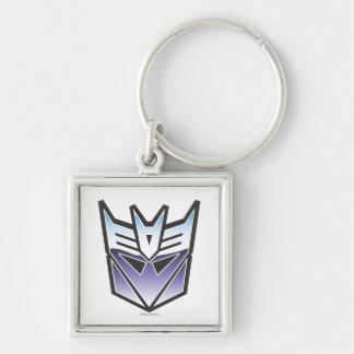 Color del escudo de G1 Decepticon Llavero Cuadrado Plateado