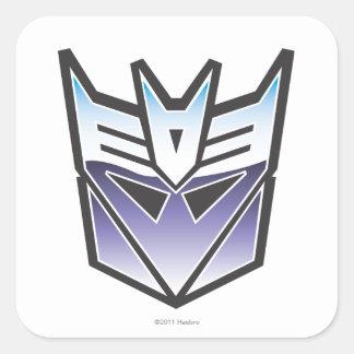 Color del escudo de G1 Decepticon Pegatina Cuadrada