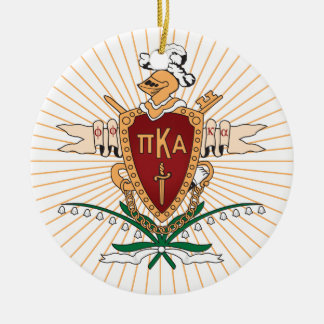 Color del escudo de PKA Adorno Navideño Redondo De Cerámica