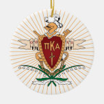 Color del escudo de PKA Ornaments Para Arbol De Navidad