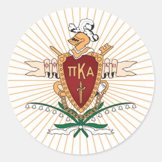 Color del escudo de PKA Pegatina Redonda