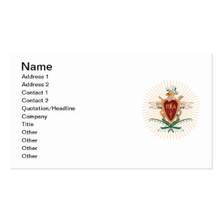 Color del escudo de PKA Tarjetas De Visita