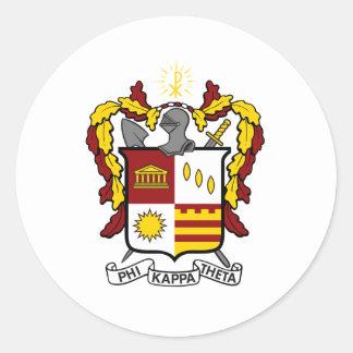 Color del escudo de PKT Etiquetas Redondas