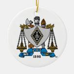 Color del escudo de ZBT Adorno Redondo De Cerámica