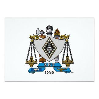 """Color del escudo de ZBT Invitación 5"""" X 7"""""""