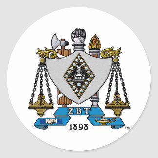 Color del escudo de ZBT Pegatina Redonda