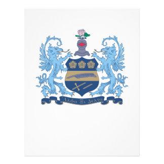Color del escudo del delta de la alfa XI Tarjeton