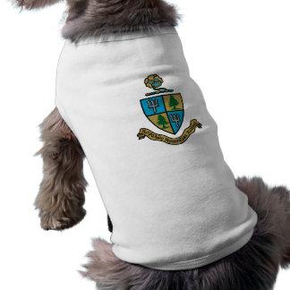 Color del escudo del delta del delta del delta camisetas de perro