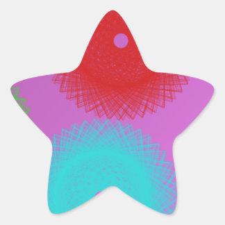 color del estallido del color del psychedelics pegatina forma de estrella personalizadas